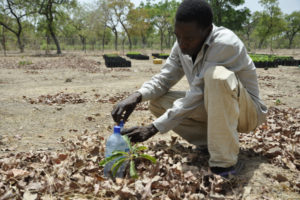 wahabou benao demonstrate how he controls water at his farm in vrassan village southern burkina faso